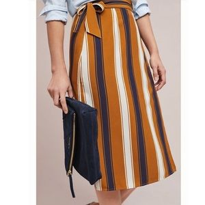 Anthropologie Maeve Melody Wrap Skirt